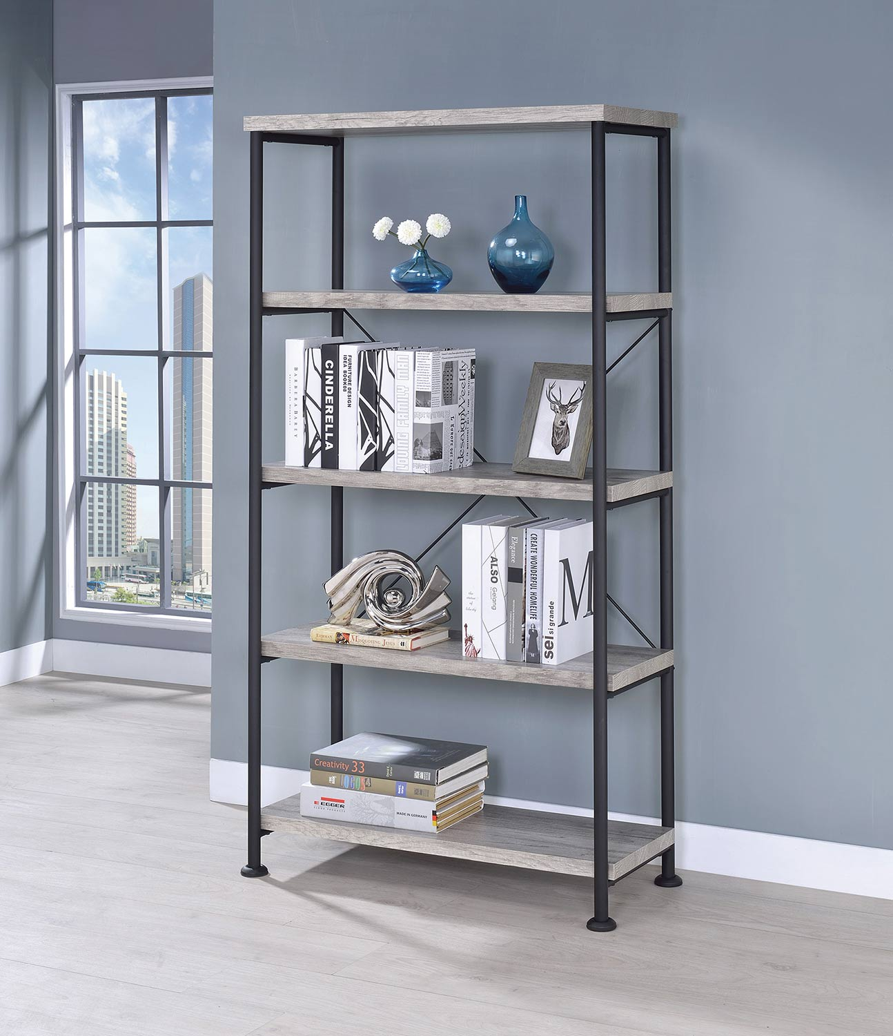 Coaster Guthrie Bookcase - Grey Driftwood