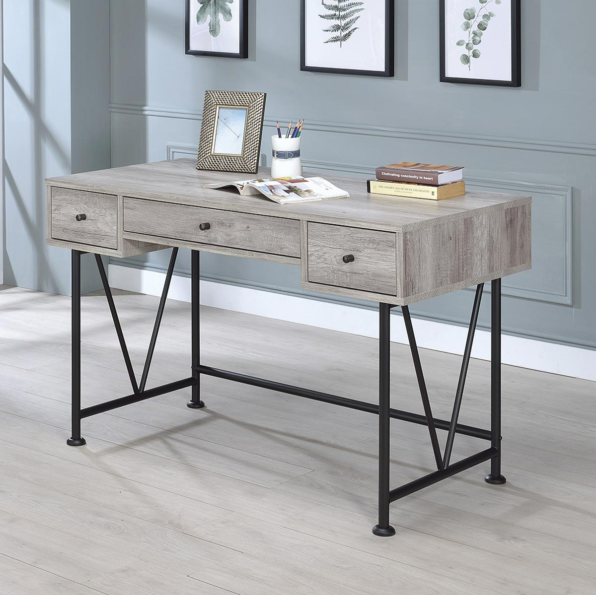 Coaster Guthrie Writing Desk - Grey Driftwood