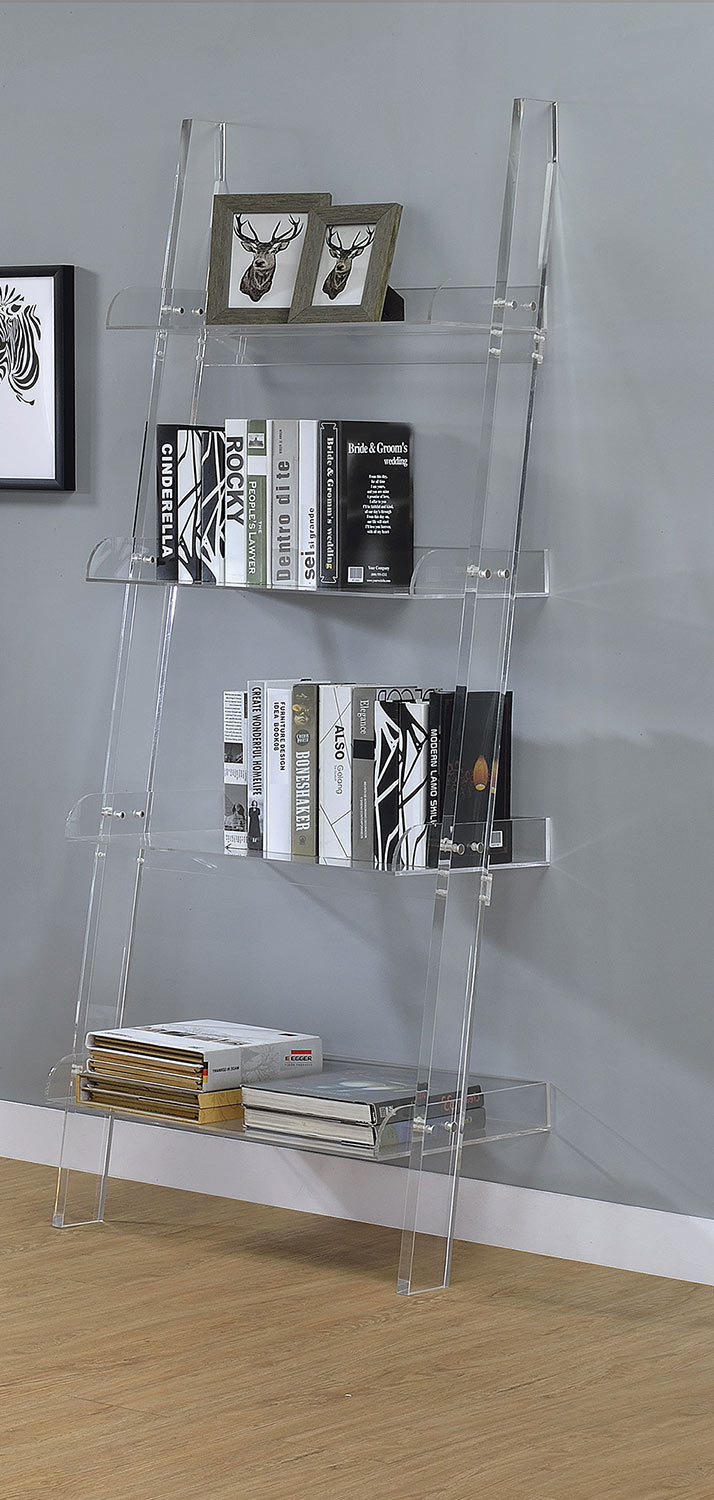 Coaster Amaturo Bookcase - Clear/Chrome