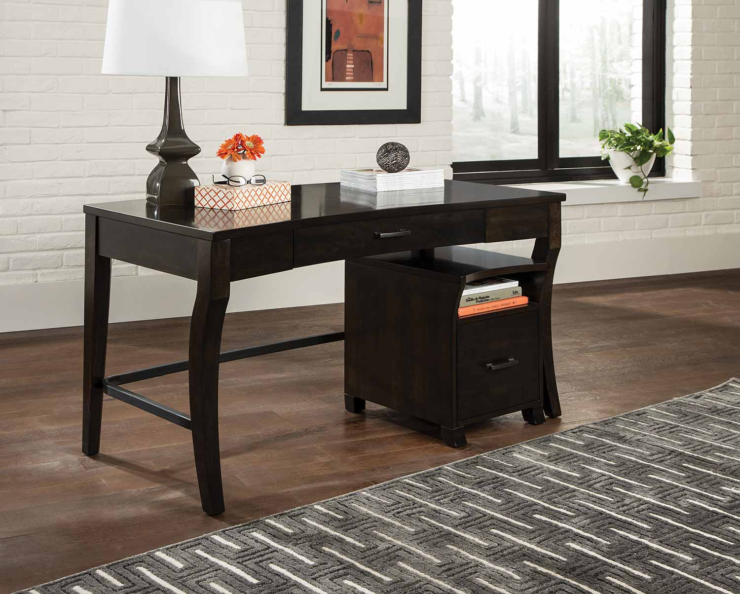 Coaster 801751 Desk Set - Smoke Black