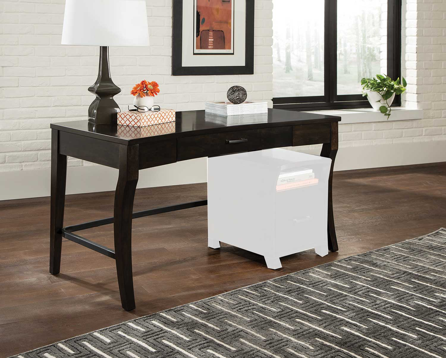 Coaster 801751 Writing Desk - Smoke Black