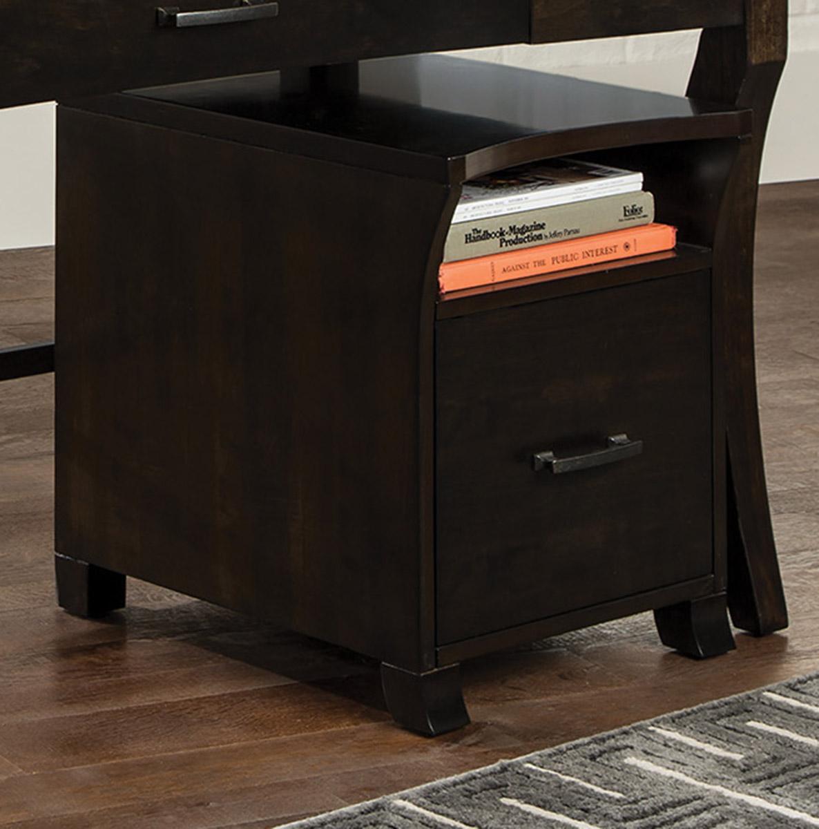 Coaster 801754 File Cabinet - Smoke Black