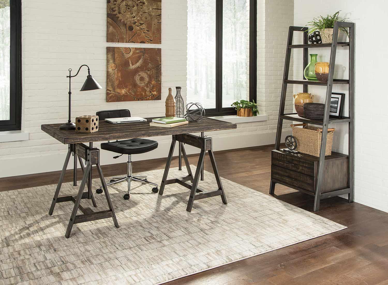 Coaster Deponte Desk Set - Burnished Cognac
