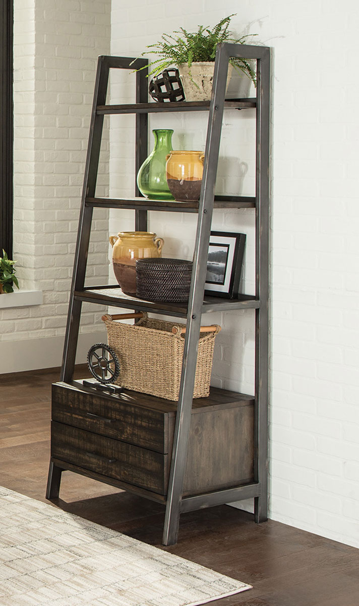 Coaster Deponte Bookcase - Burnished Cognac
