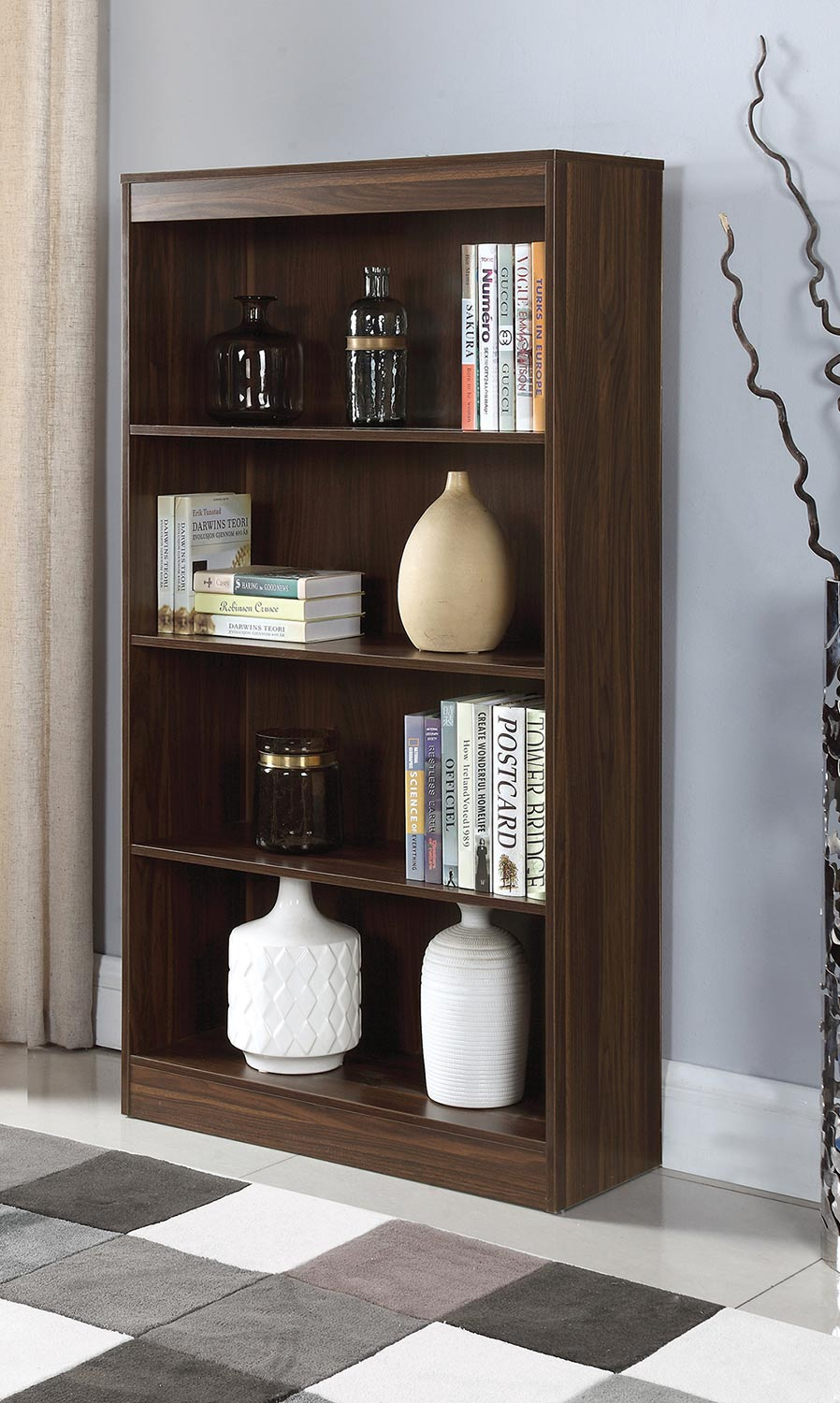 Coaster 801807 Bookcase - Dark Walnut