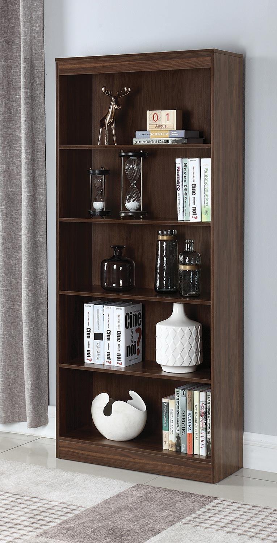 Coaster 801808 Bookcase - Dark Walnut