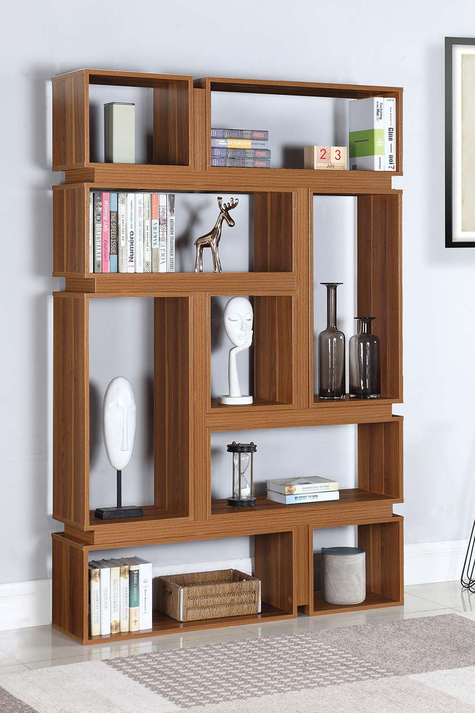 Coaster 801834 Bookcase - Light Walnut