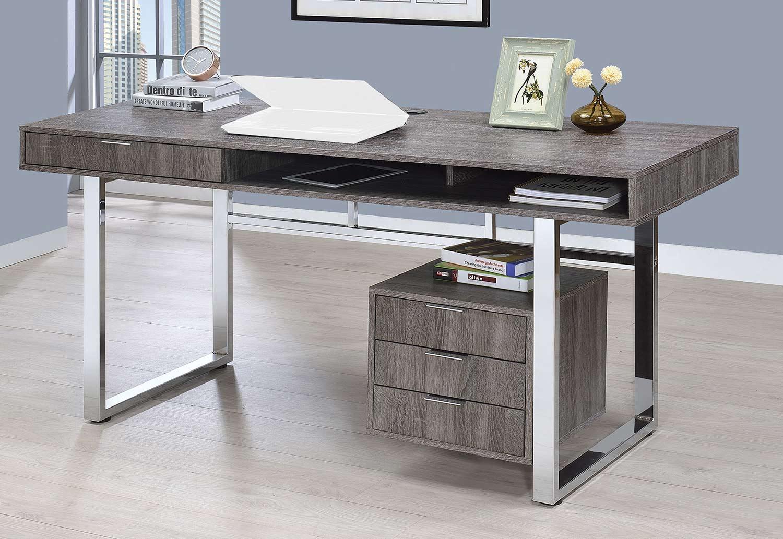 Coaster 801897 Writing Desk - Weathered Grey