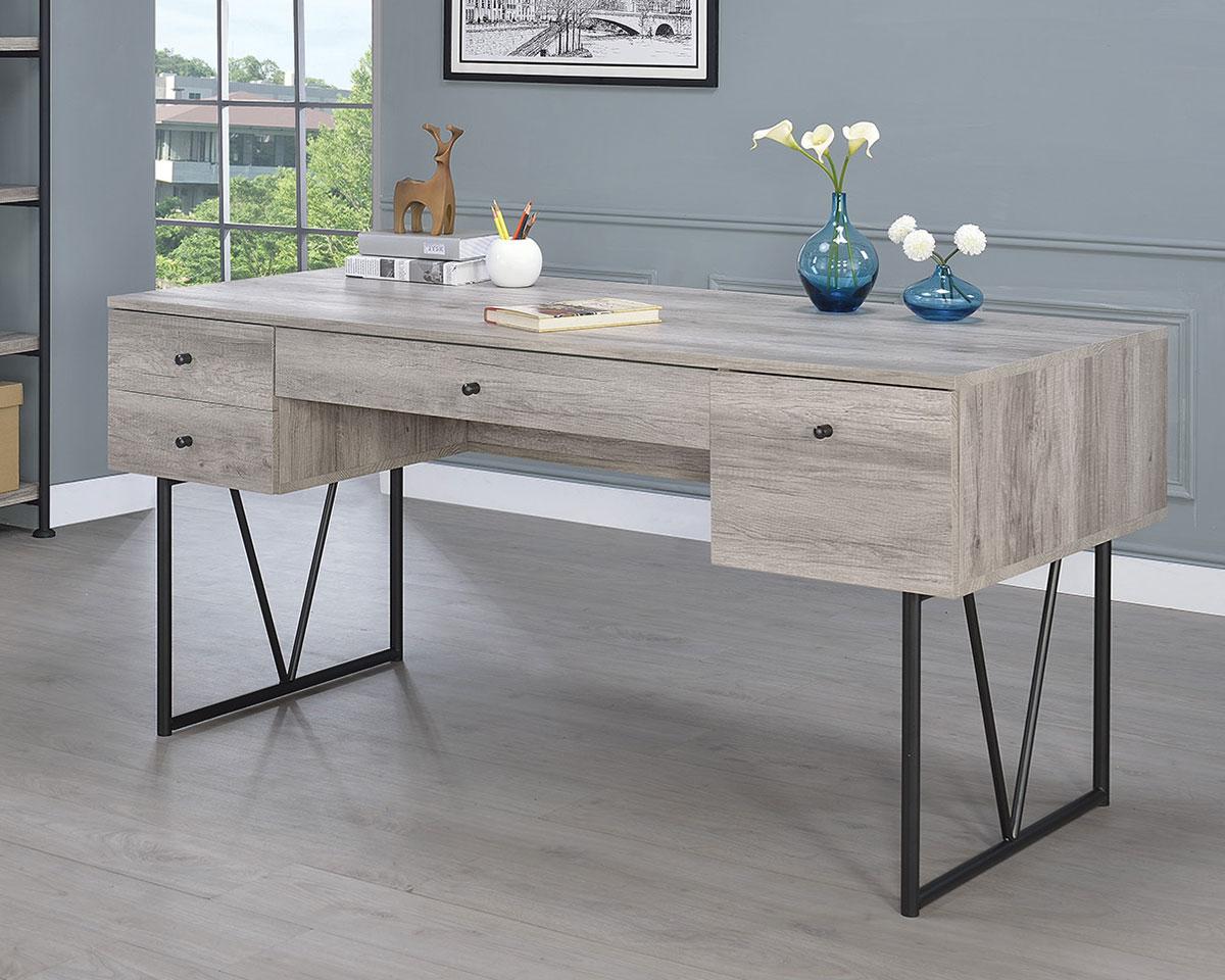Coaster Analiese Writing Desk - Grey Driftwood