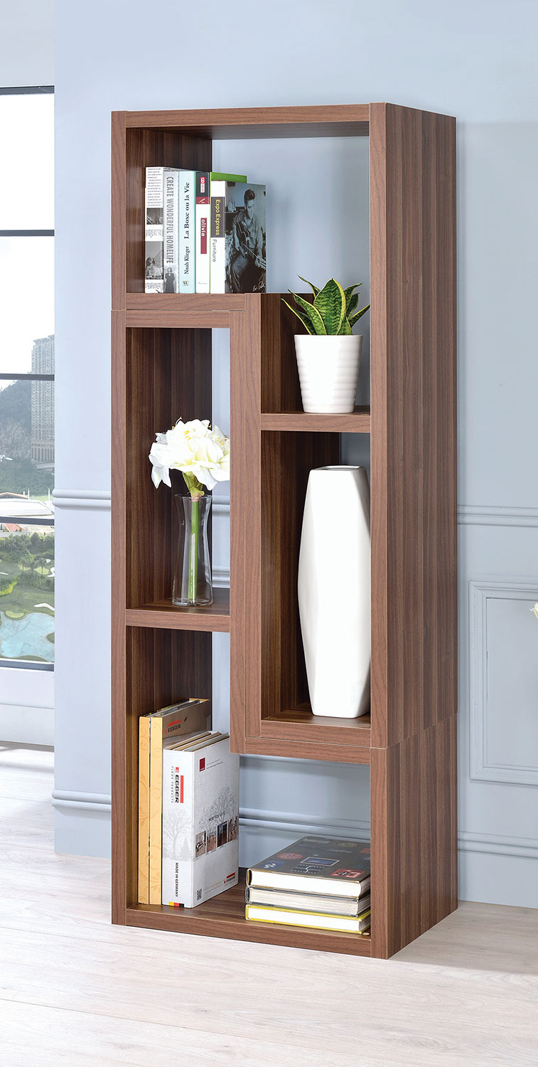 Coaster 802329 Bookcase - Walnut