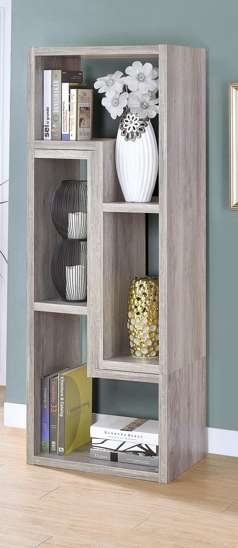 Coaster 802330 Bookcase - Grey Driftwood