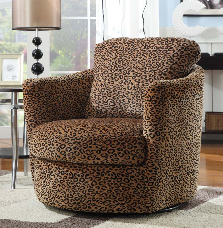 Coaster 900195 Swivel Chair - Leopard