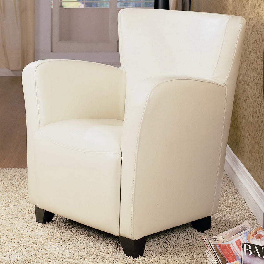 900236 Vinyl Chair - Cream - Coaster