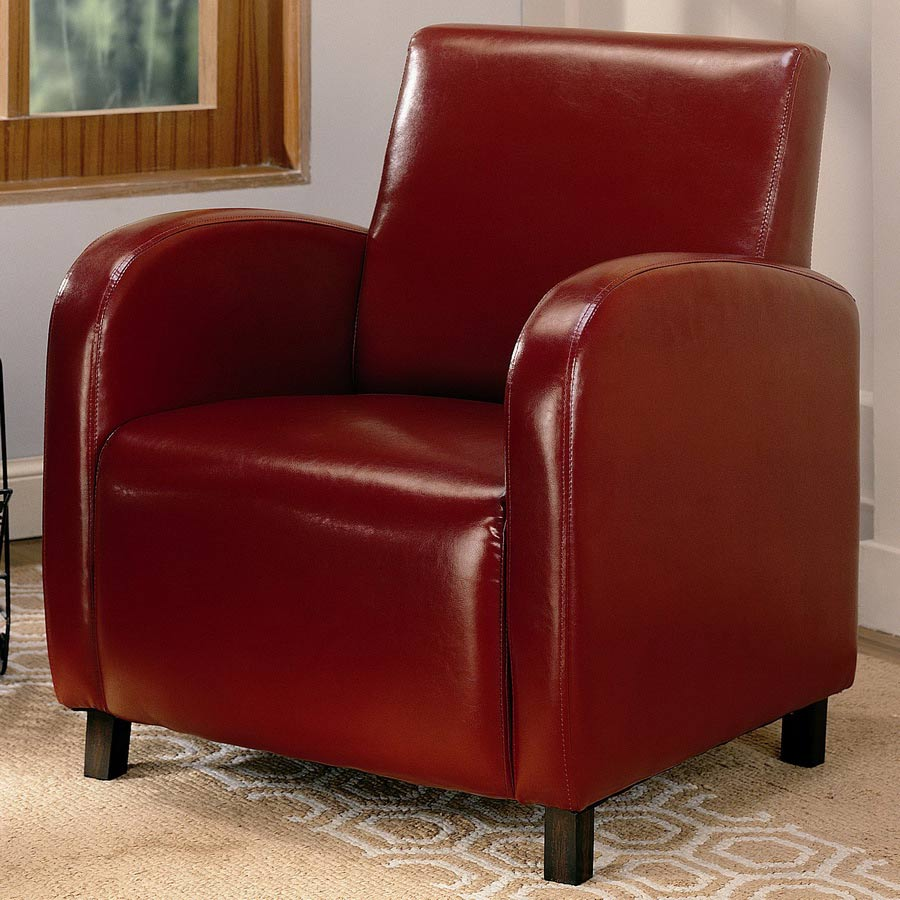 Coaster 900335 Vinyl Chair - Red