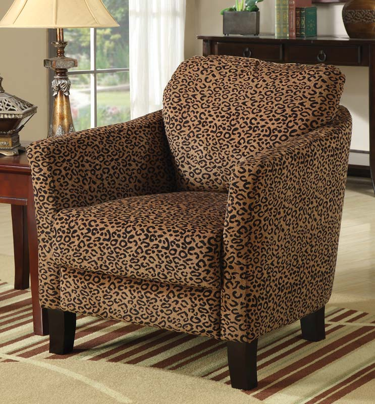 Coaster 90040X Jungle Accent Chair - Leopard