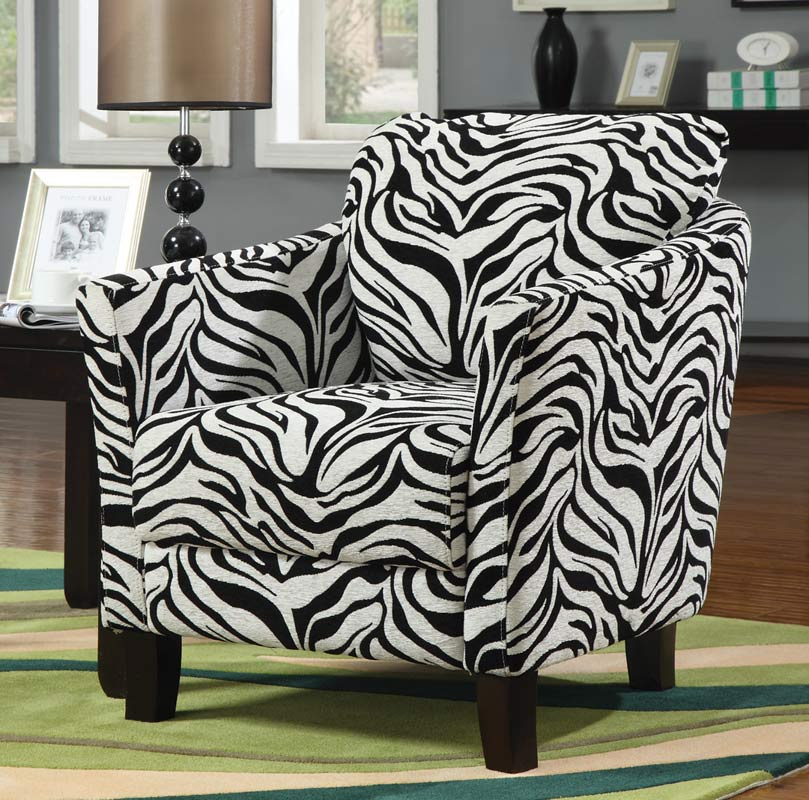 Coaster 90040X Jungle Accent Chair - Zebra