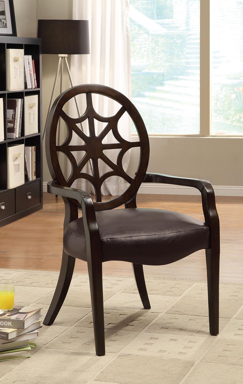 Coaster 900526 Accent Chair - Brown - Dark Walnut