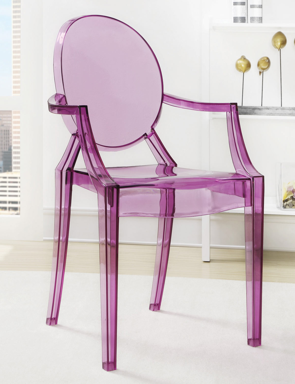 900545 Crystal Chair - Purpule