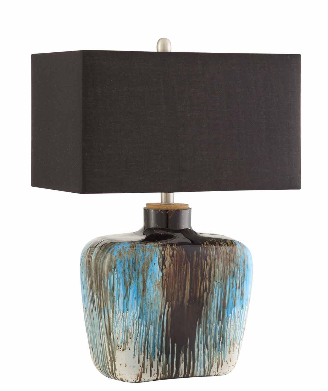 Coaster 901246 Table Lamp - Antique Silver/Blue Tones