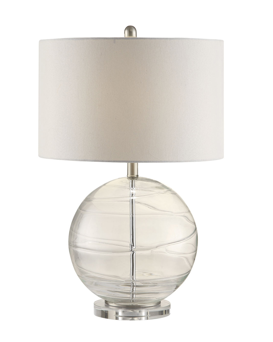 Coaster 901557 Lamp - Clear/White