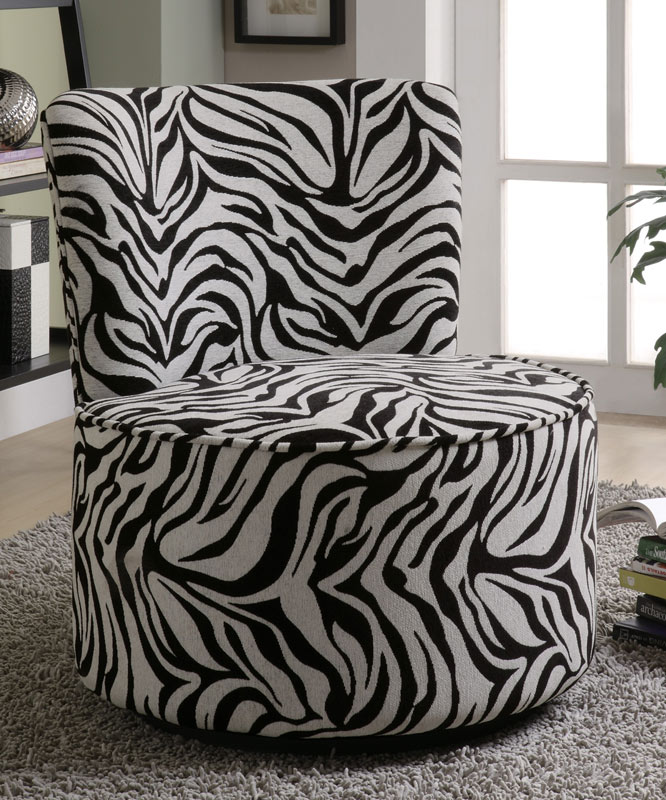 Coaster 90200X Swivel Accent Chair - Exotic Zebra