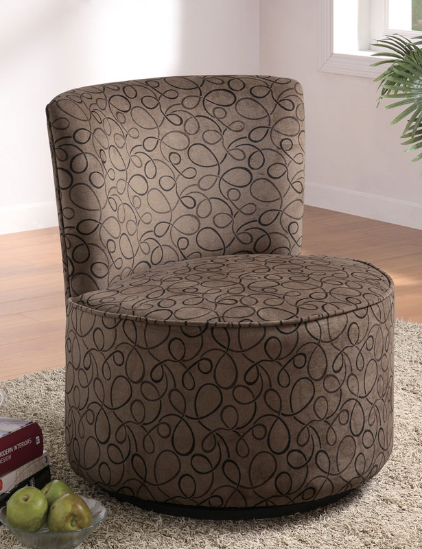 Coaster 90200X Swivel Accent Chair - Swirly Fun