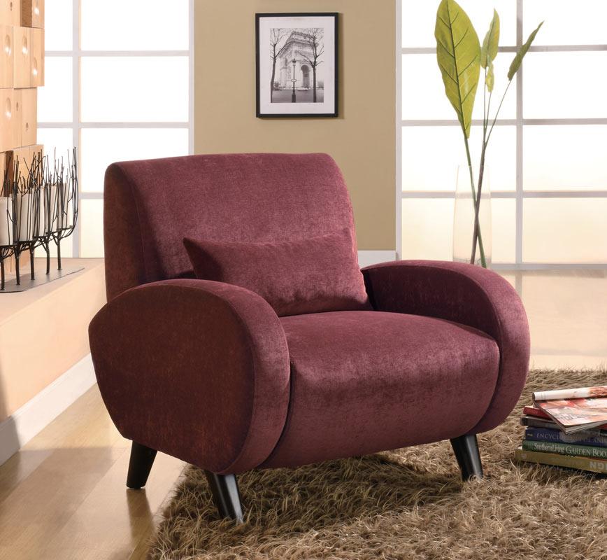 Coaster 90201X Accent Chair - Burgundy