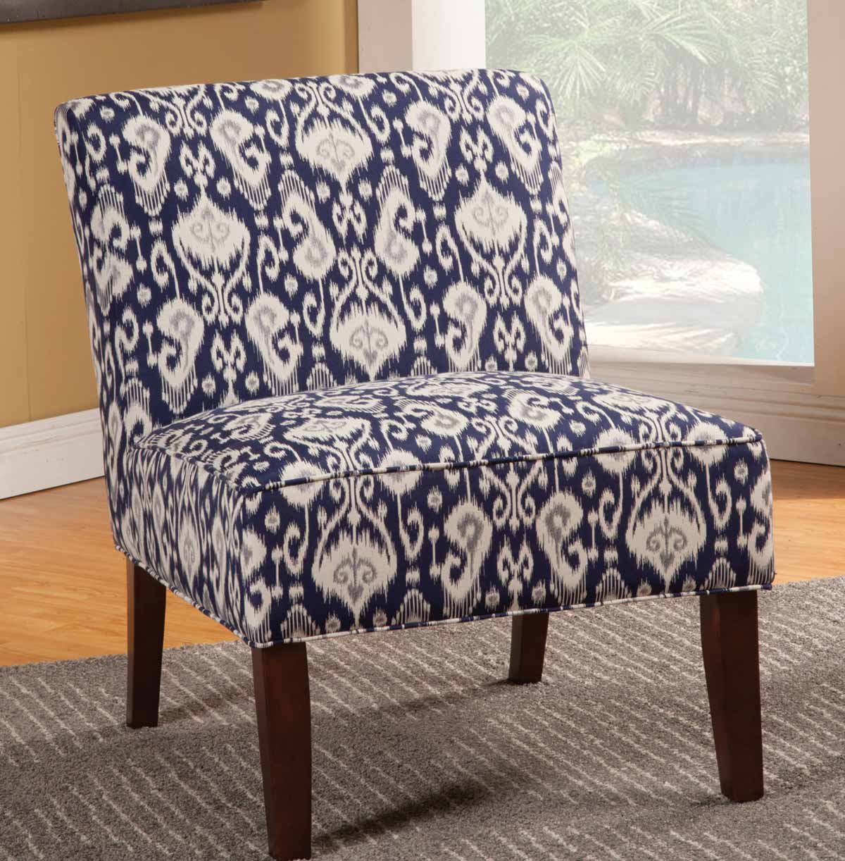 Coaster 902028 Accent Chair - Navy/White