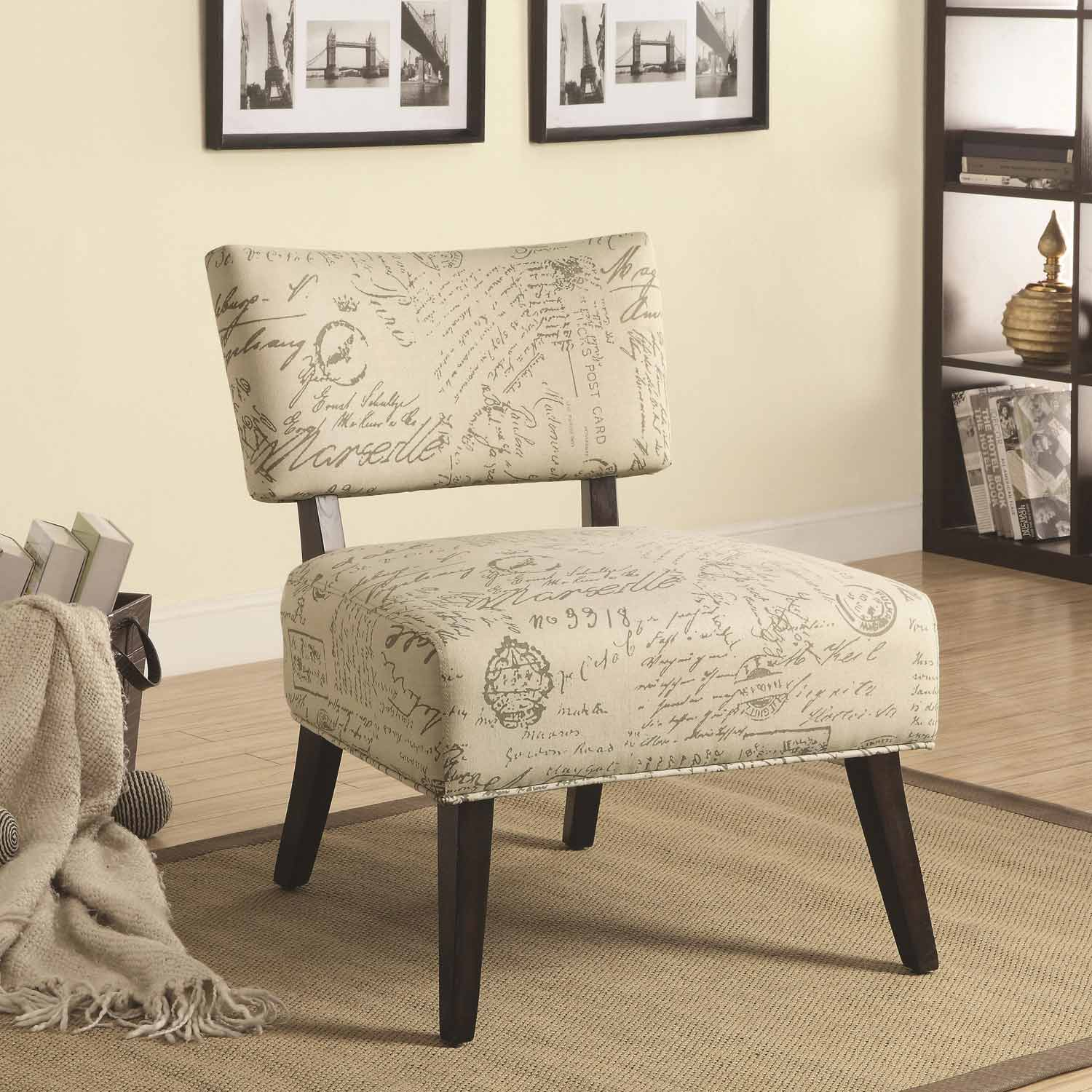 Coaster 902114 Accent Chair - Beige - Cappuccino