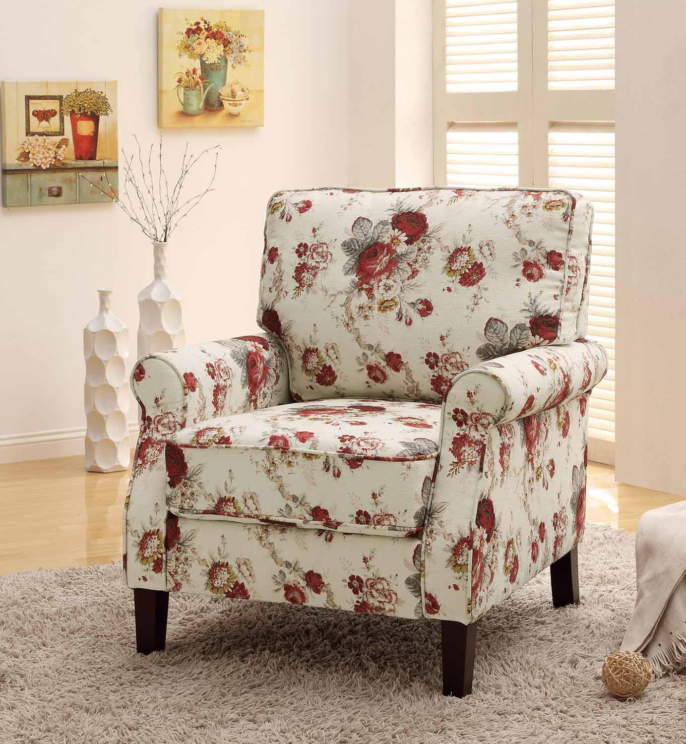 Coaster 902131 Accent Chair - Floral Pattern