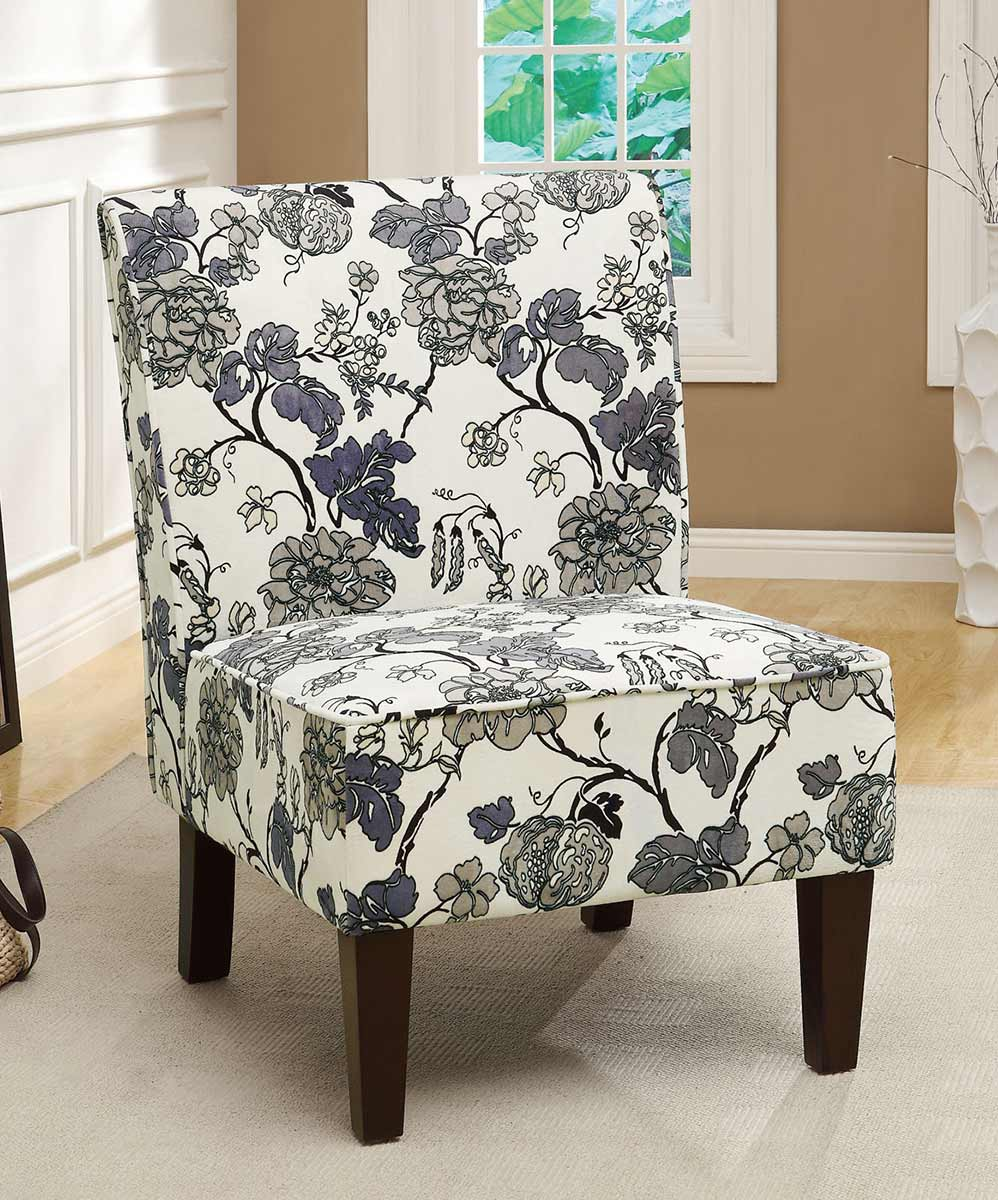 Coaster 902140 Accent Chair - Grey Floral Pattern