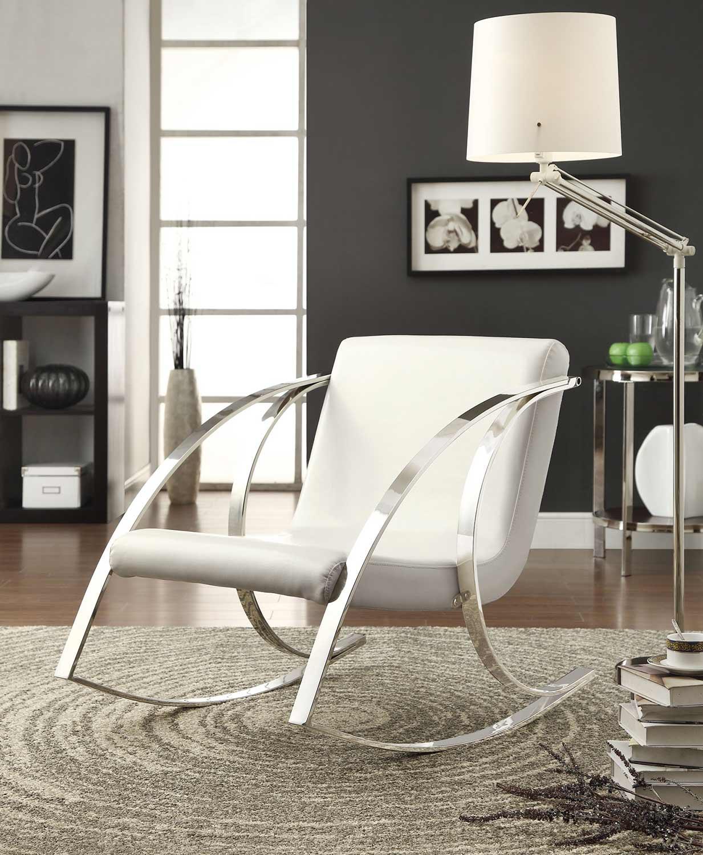 Coaster 902147 Casual Chair - White