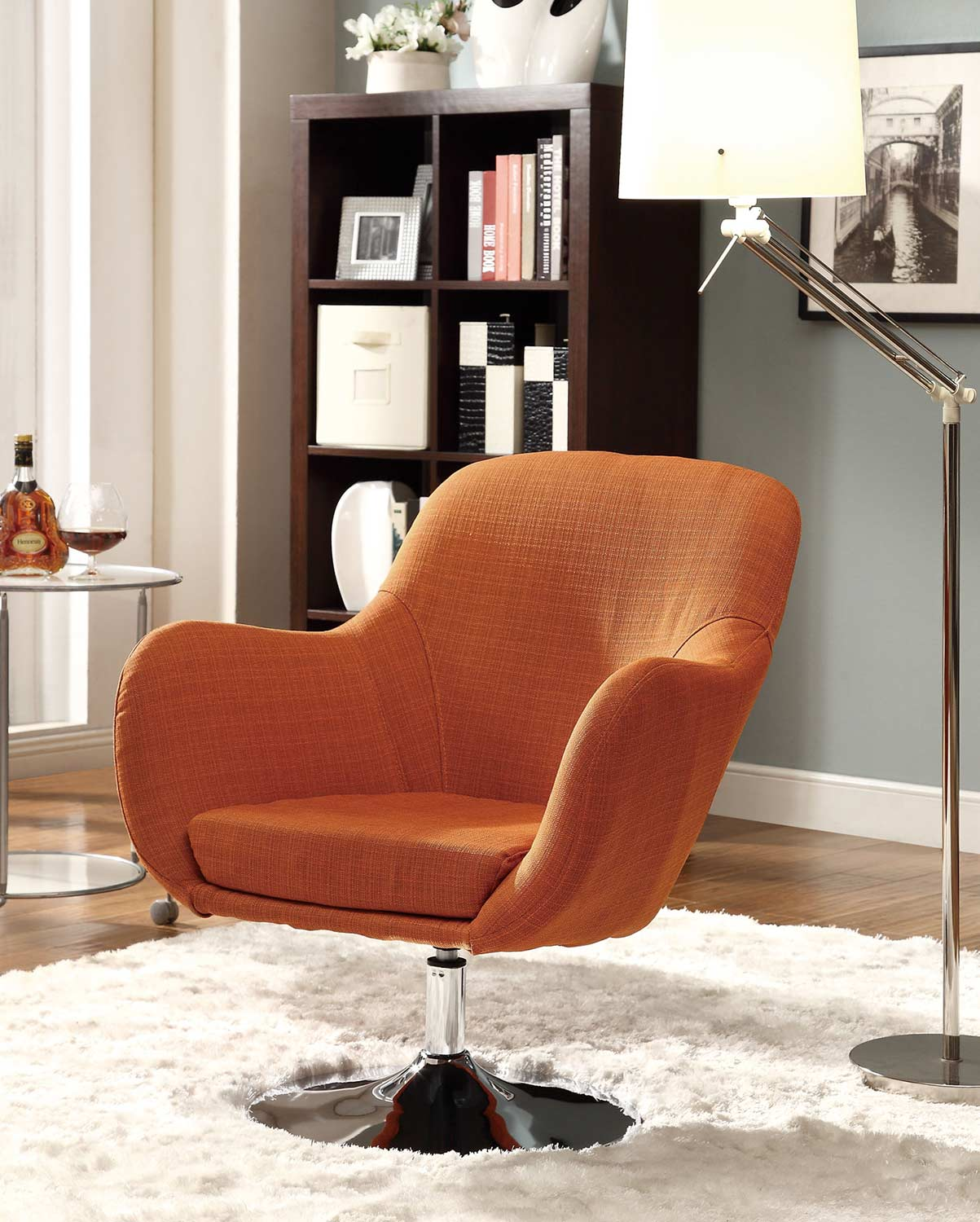 Coaster 902148 Swivel Chair - Orange