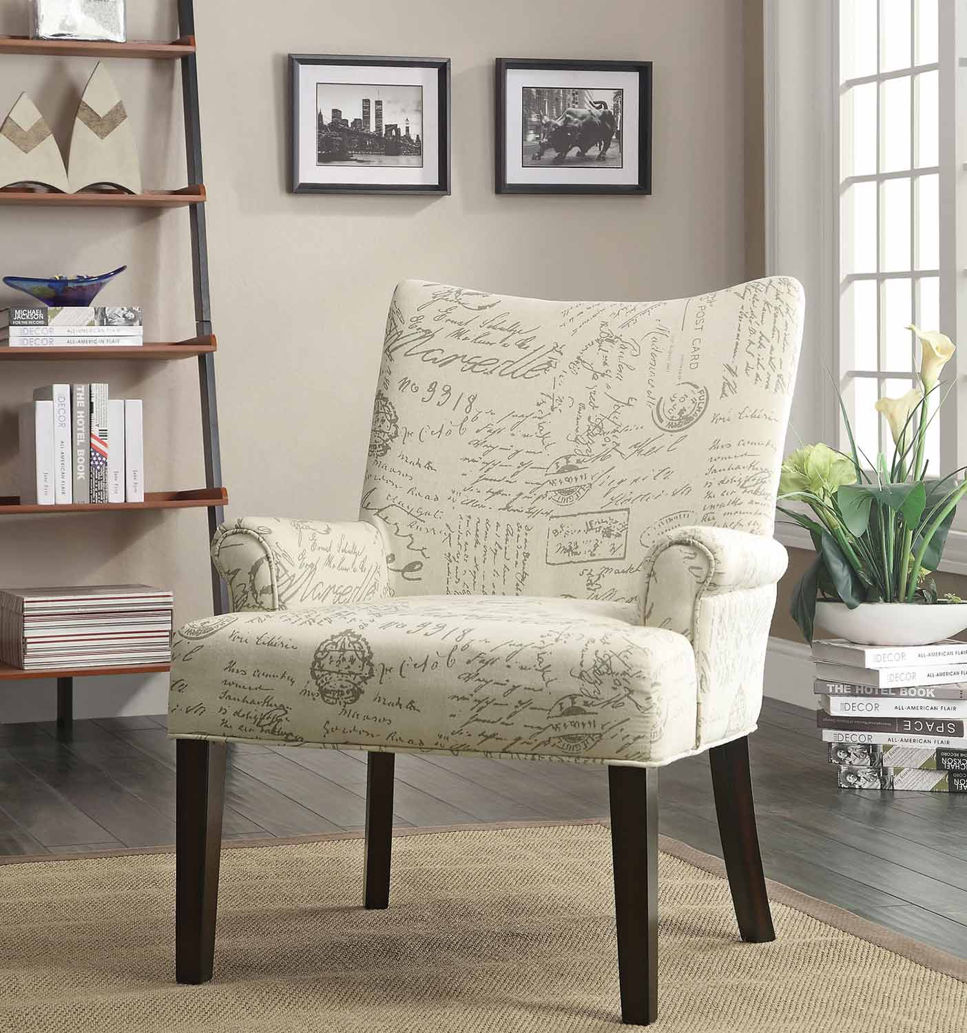 Coaster 902149 Accent Chair - Geometric Circle Pattern