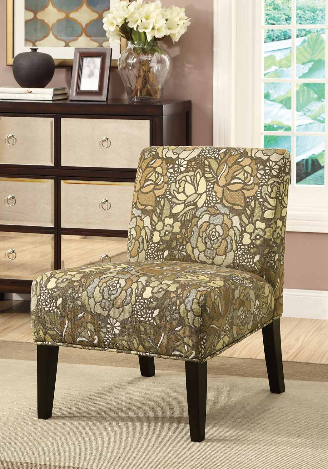 Coaster 902163 Accent Chair - Earth Tone Stained Glass