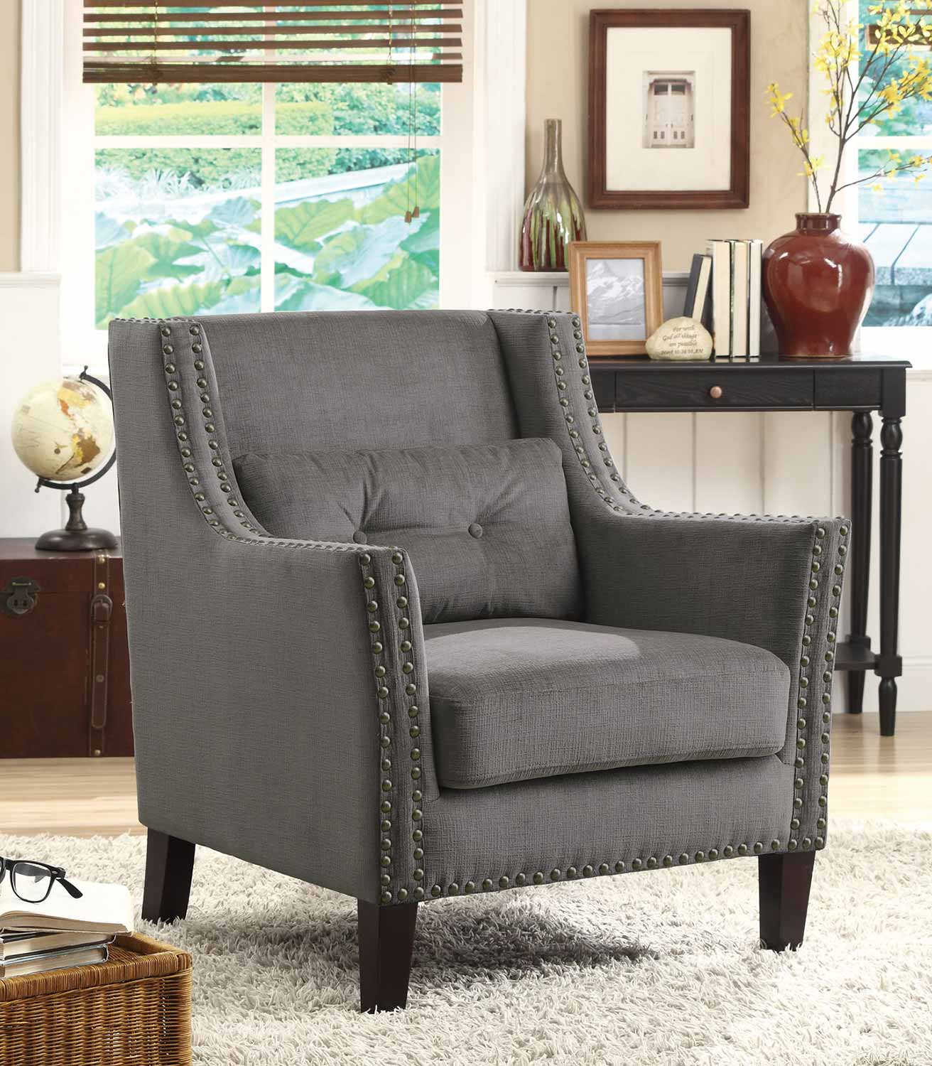 Coaster 902170 Accent Chair - Grey