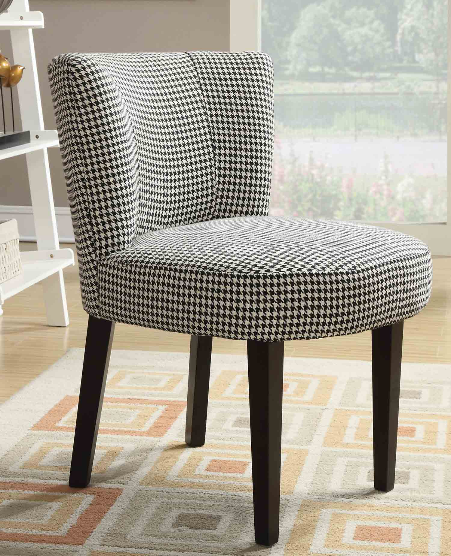 Coaster 902175 Accent Chair - White/Black