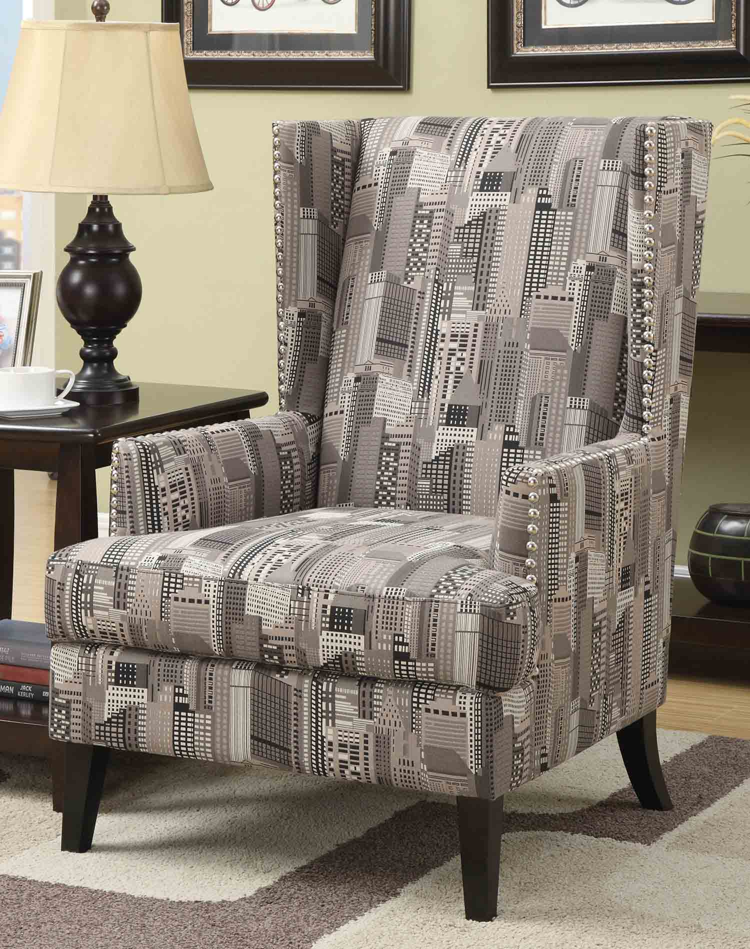 Coaster 902178 Accent Chair - Grey City Scape