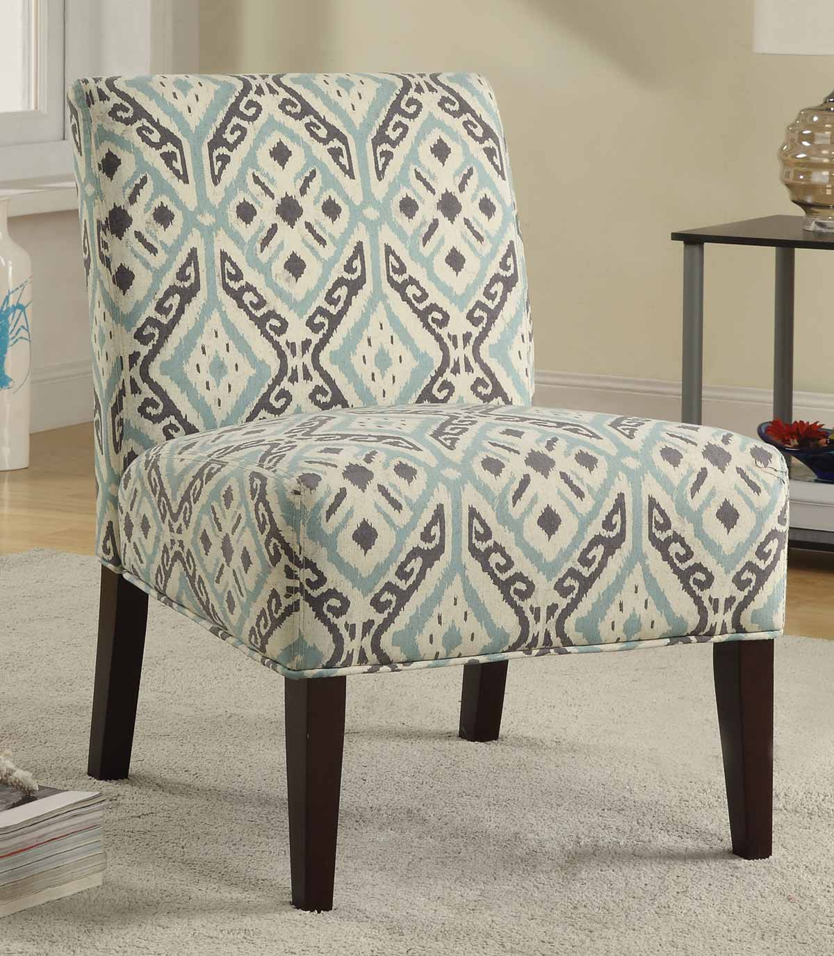 Coaster 902191 Accent Chair - Brown/Light Blue 902191 at ...