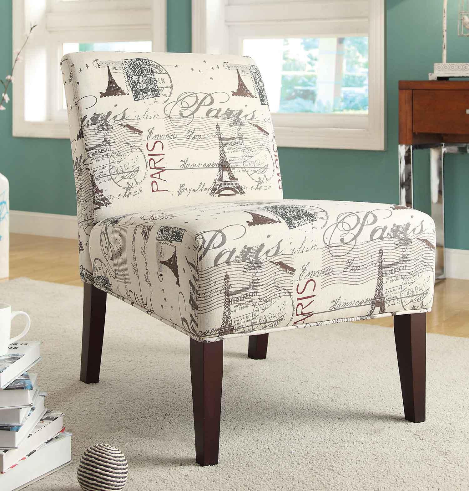 Coaster 902192 Accent Chair - Beige/Charcoal Postcard Design