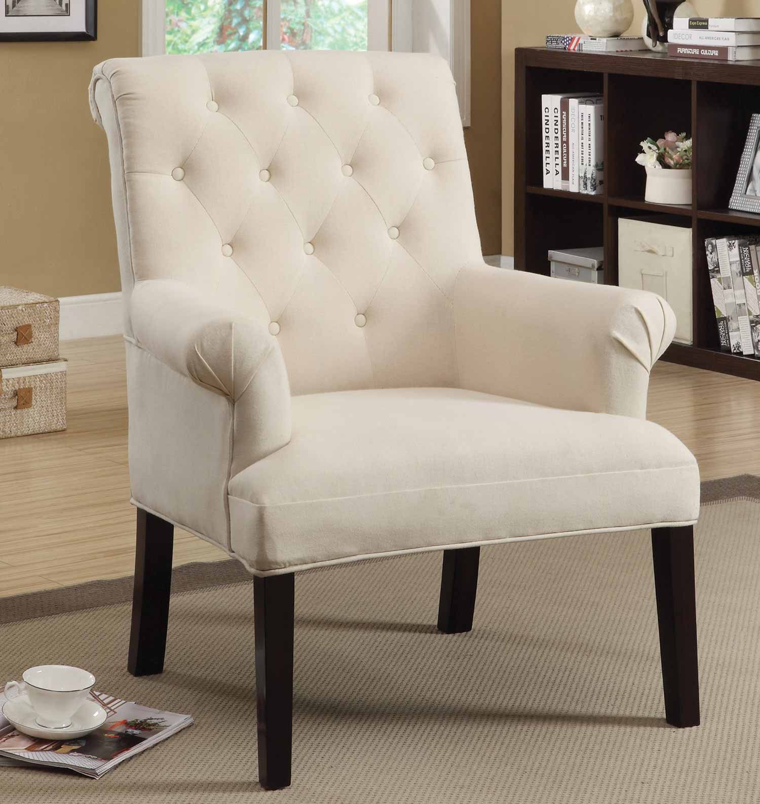 Coaster 902200 Accent Chair - Light Beige