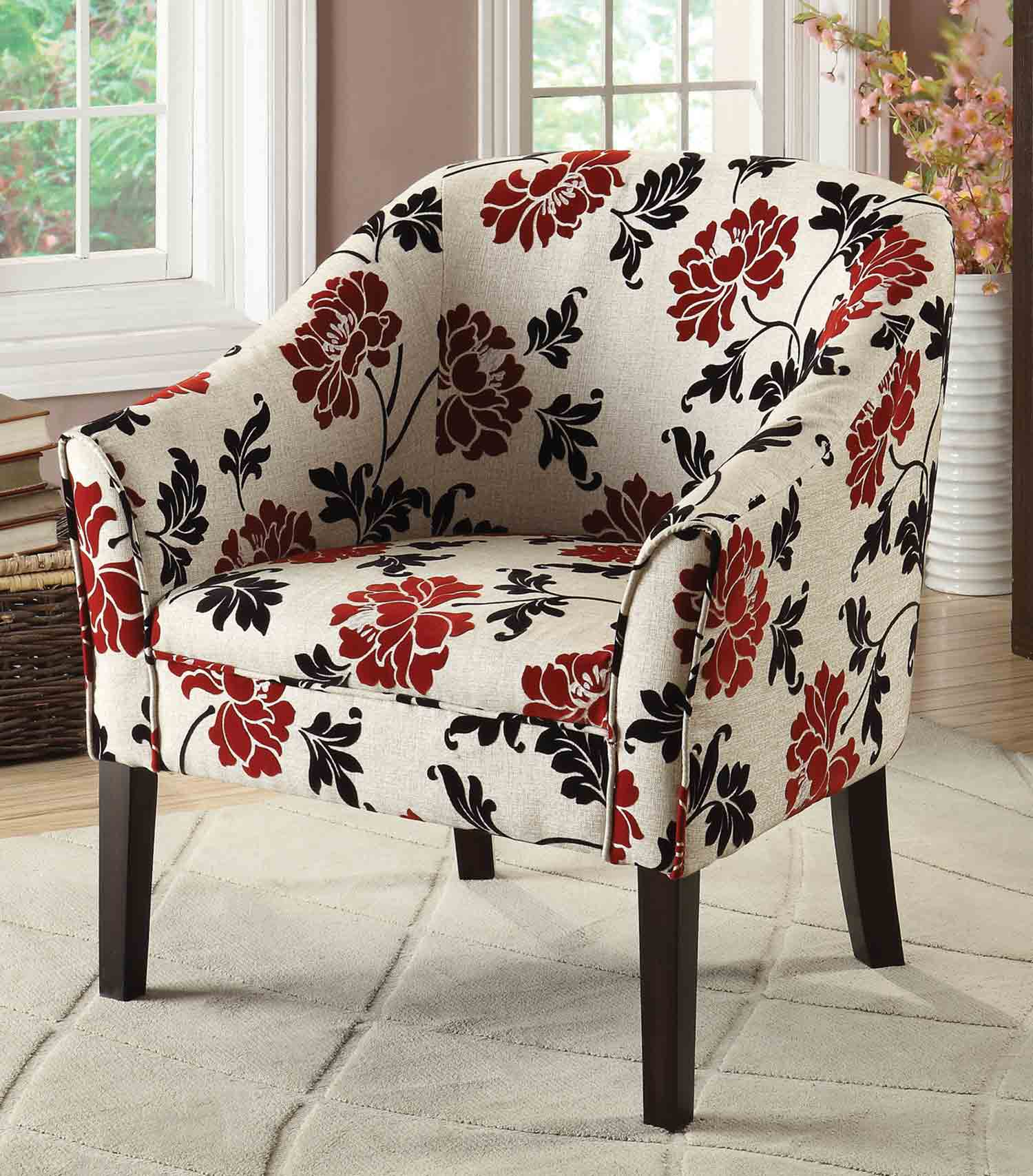Coaster 902207 Accent Chair - Red/Beige/Black
