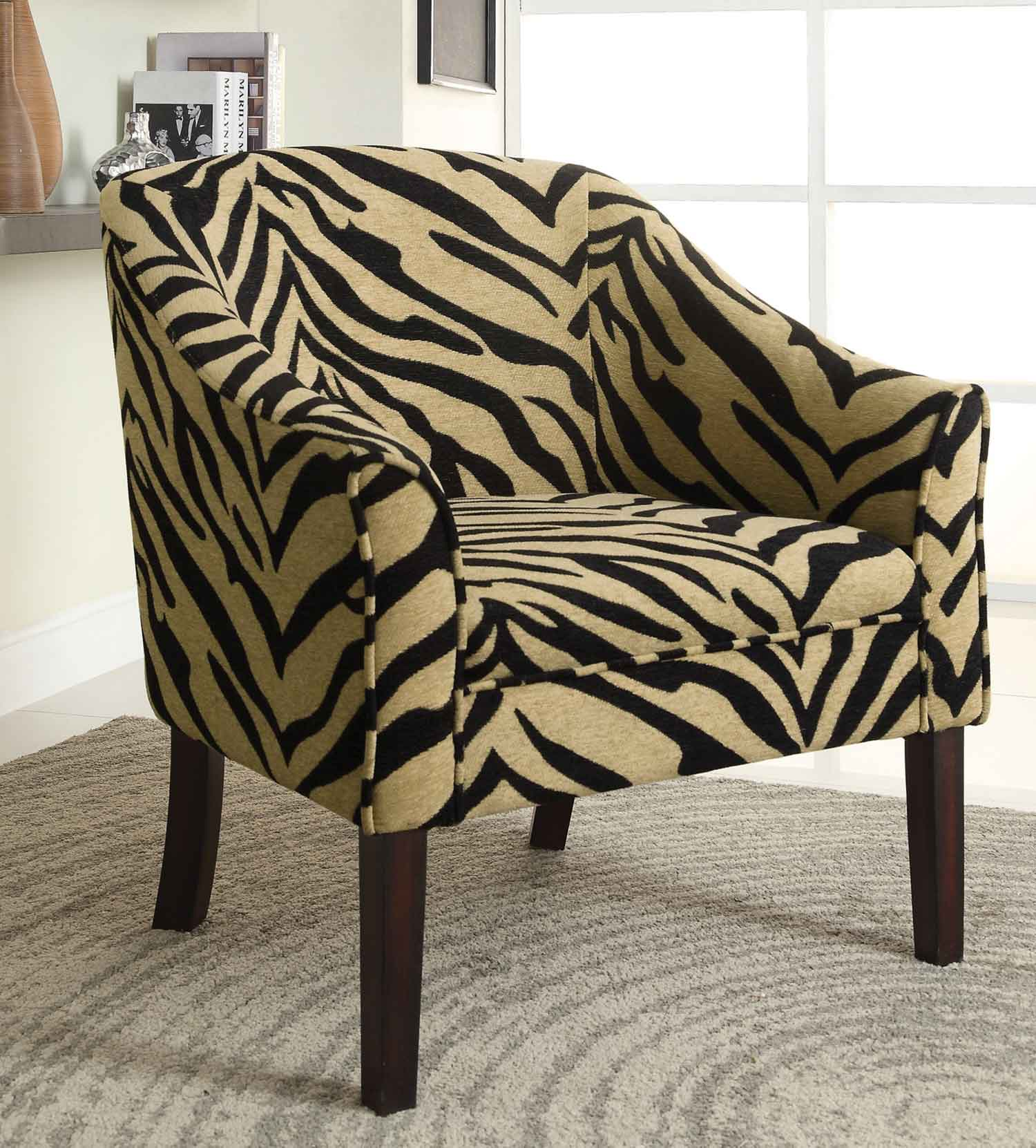 Coaster 902208 Accent Chair - Tiger Pattern