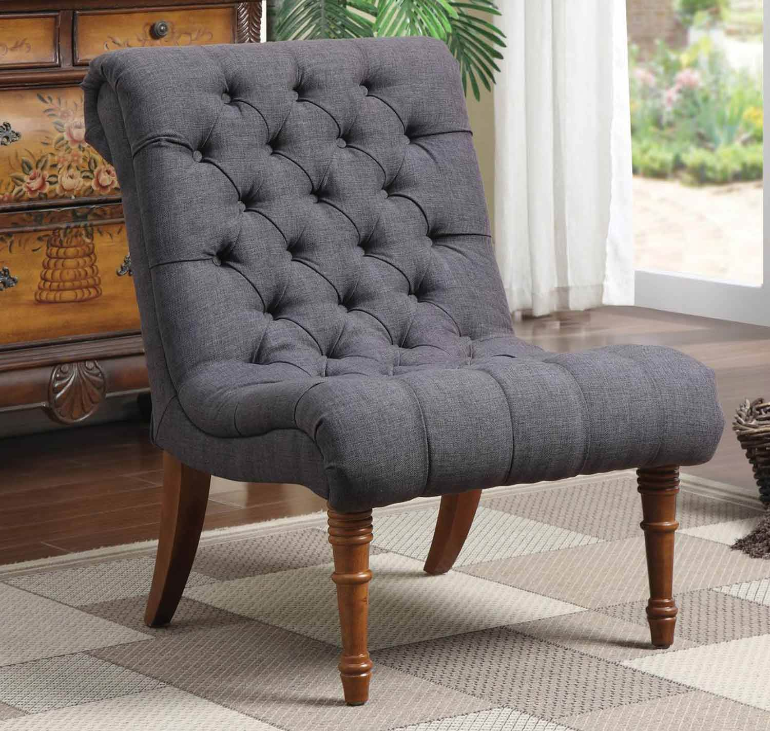 Coaster 902217 Accent Chair - Charcoal Grey