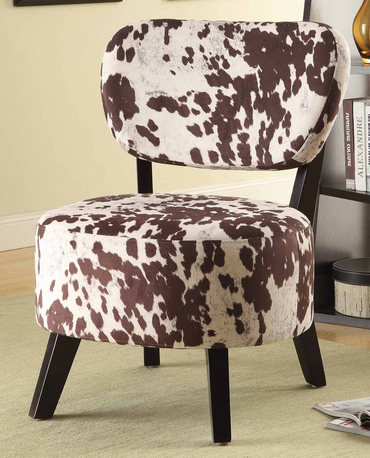 Coaster 902226 Accent Chair - Brown/White Cow Print