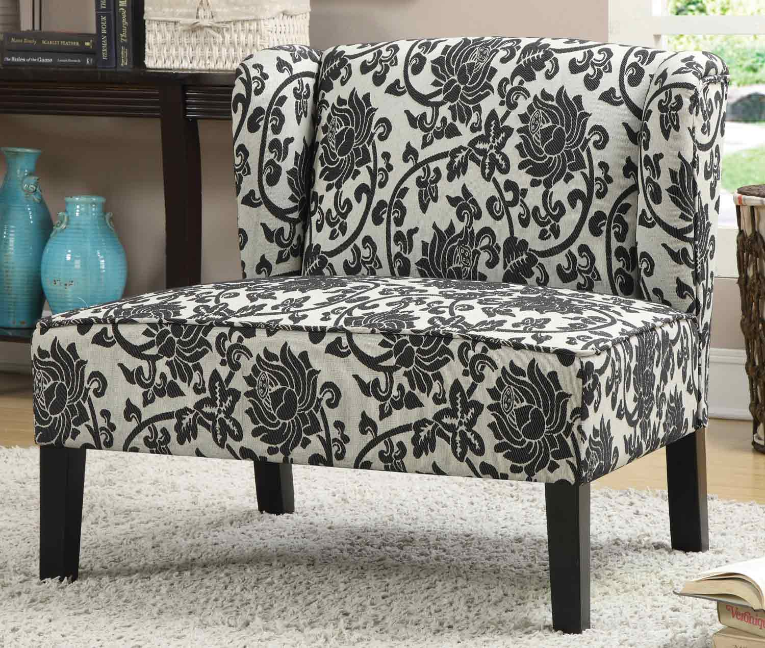 Coaster 902231 Accent Chair - Black/Grey Floral