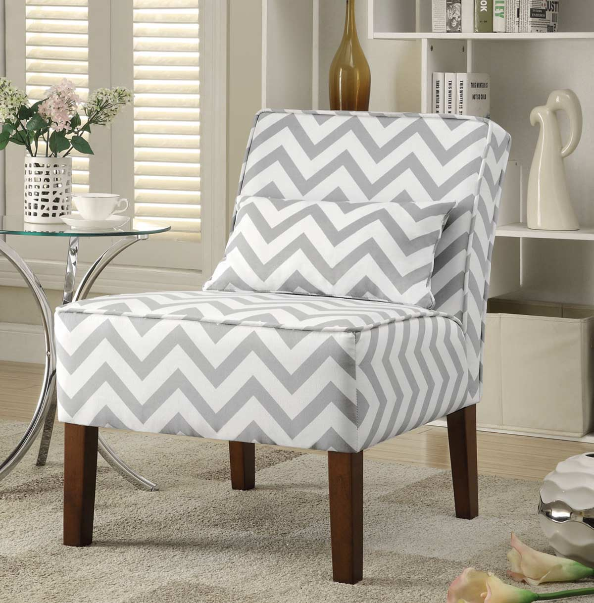 Coaster 902259 Accent Chair - Grey/white
