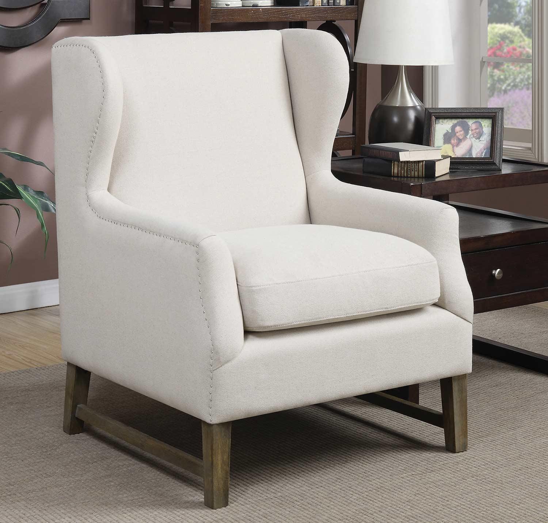 Coaster 902490 Accent Chair - Cream