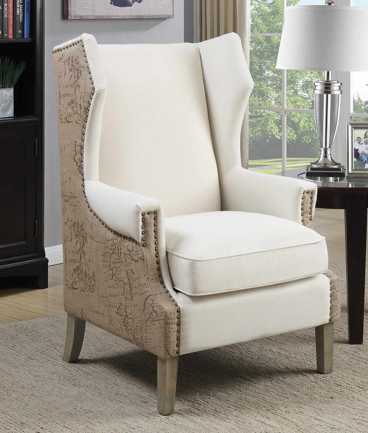 Coaster 902491 Accent Chair - Cream