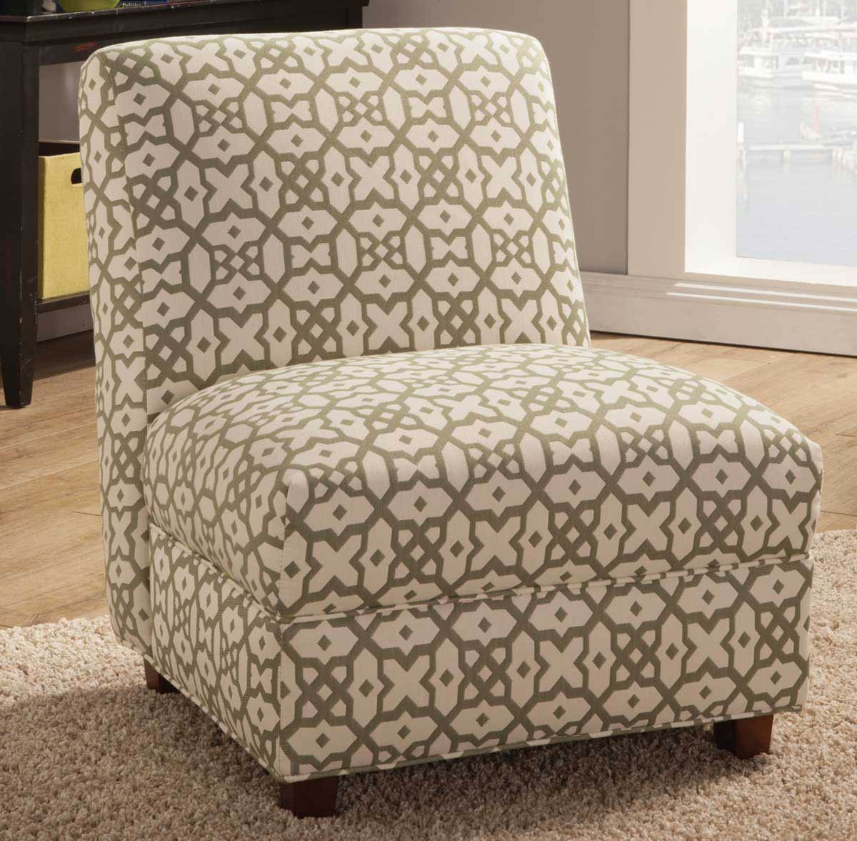 Coaster 902526 Accent Chair - Off White/Green